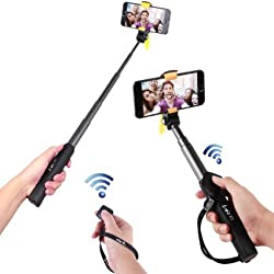 Arrela® Hornbill Bluetooth Selfie Stick, Portable Self-portrait Monopod with Separate Bluetooth Remote Shutter for iPhone 6S/6S Plus/6/6 Plus/5S Samsung Galaxy GoPro ST2 Long Pattern