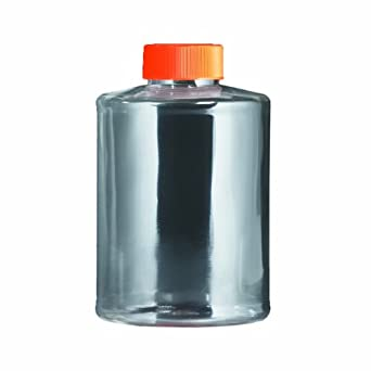Corning 430195 Polystyrene Sterile Roller Bottle with Orange Plug Seal HDPE Cap (Case of 40)