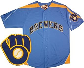 Milwaukee Brewers Laser Majestic Throwback Jersey by Majestic VF