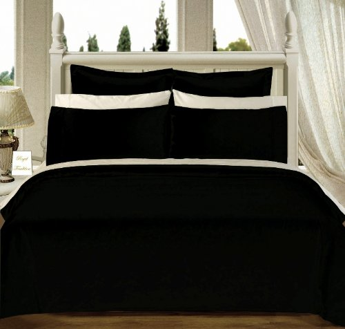 8-PC Queen size Solid Bed in A Bag  Down Alternative
