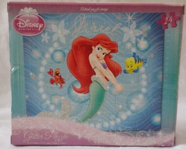 The Little Mermaid (Ariel and Flounder), Glitter Effect, 24 Piece Puzzle - 1
