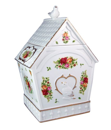 Royal Albert Old Country Roses Birdhouse Cookie Jar