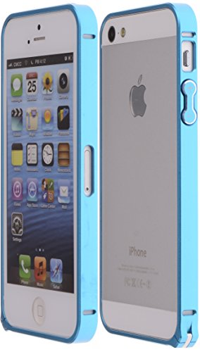 Boilfish,Iphone 5S,5,Metal Aluminum Alloy Bumper Clasp Case,Cyan