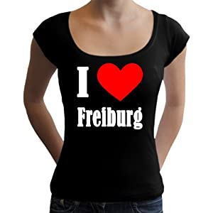 I Love Freiburg Damen T-Shirt