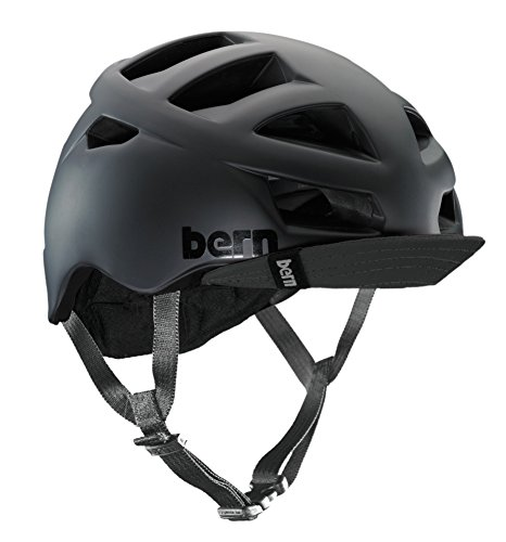 Bern Unlimited Allston Helmet with Black Flip Visor, Matte Black, Large/X-Large