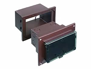Arlington DHB1BRC-1 Outdoor Electrical Box for New Brick Construction, Brown Box/Clear Cover, Horizontal/1-Gang