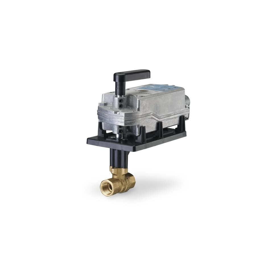 Siemens 171E 10328S 2 Way 2 Inch 63 Cv Ball Valve Assembly with Stainless Steel Ball and Stem, 2 Position, Normally Open, Fail Safe Actuator, 200  Psi Close Off, NPT