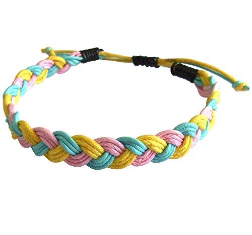 artisan-handgefertigt-armband-unisex-freundschaftsarmbander-azurblau-rosa-gelb-baumwolle-schnur
