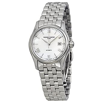 Frederique Constant Classics Mother of Pearl Dial Steel Ladies Watch FC-303MPWN1B6B