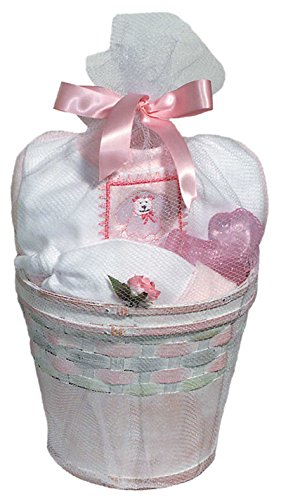 Raindrops Furry Friends Poodle Footie Gift Set, Pink, 3-6 Months, 4 Piece