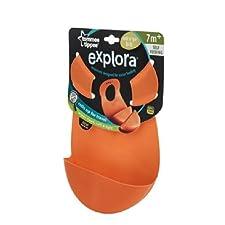 Tommee Tippee Explora rouleau n Go Bib orange