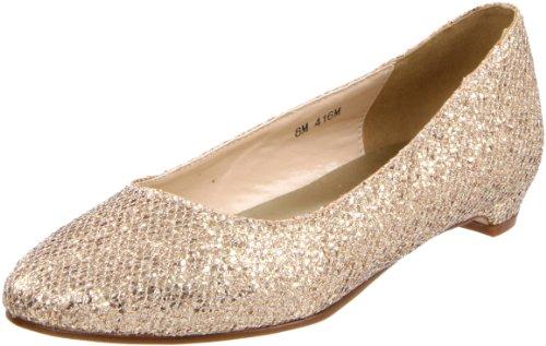 Touch Ups Women's Tamara Flat,Champagne Glitter,11 M US