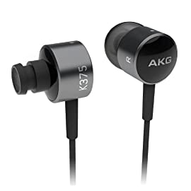 AKG K375BLK High-Performance In-Ear headphones with In-Line Microphone and Remote Control for iOS Devices, Black