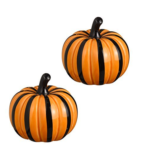 Autumn Pumpkins Salt & Pepper Shaker Set