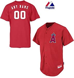 Anaheim Los Angeles Angels Full-Button CUSTOM or BLANK BACK Major League Baseball... by Majestic Authentic Sports Shop