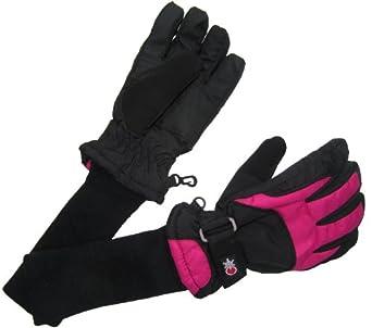 SnowStoppers Kid's Waterproof Ski & Snowboard Winter Gloves Medium / 8-12 Years Fuschia