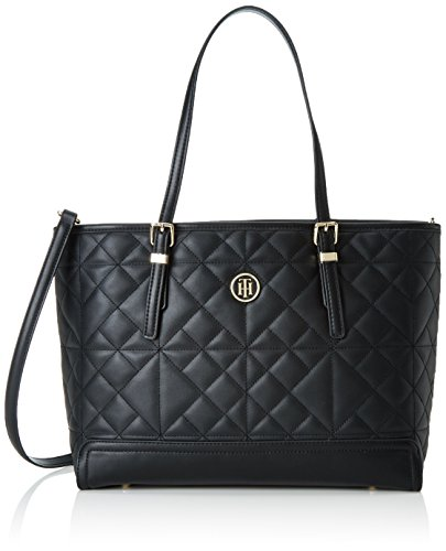 TOMMY HILFIGER Honey Medium Tote Quilted Black