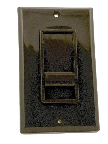 Leviton 6627-1 SureSlide 5A Full Range Fan Speed Control, Single Pole, Brown