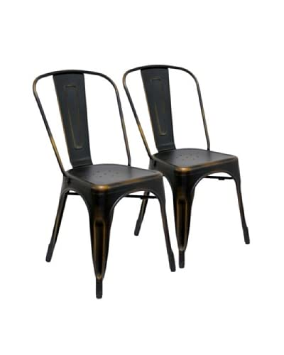 Aeon Furniture Set of 2 Garvin Chairs, Copper
