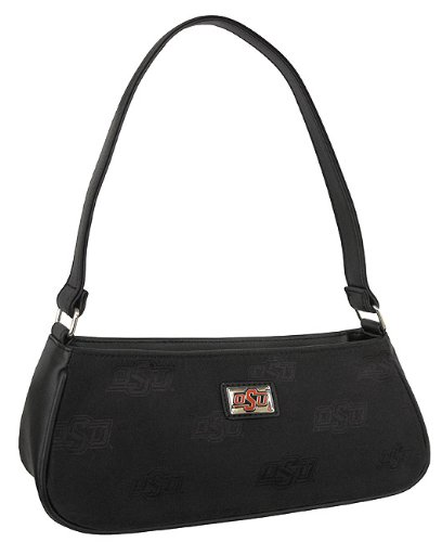OSU Oklahoma State University Logo Cowboys Lynnhaven Collection Demi Purse Shoulder Bag Style Designer College Logo Jacquard Woven Fabric LIMITED EDITION CHRISTMAS GIFT IDEA for ladies Women Students Alumni SOPHISTICATED STYLISH SPIRITED