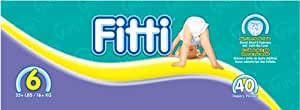 Fitti Mega Baby Diapers, Size 6, 40 Count (160 Count (Pack of 4)