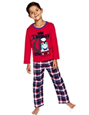 Pure Cotton Thomas & Friends© Checked Pyjamas