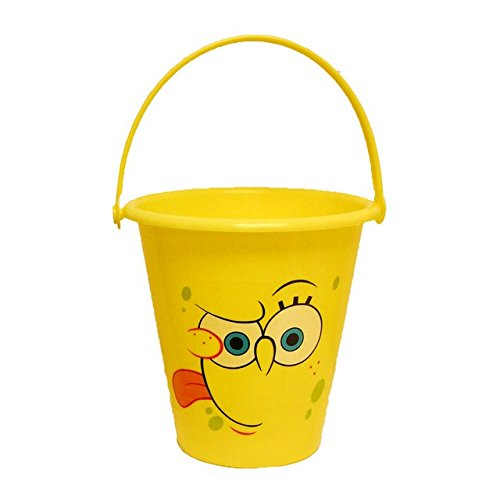 Midwest Glove Ss8K Plastic Spongebob Squarepants Kids Bucket, Bright Yellow front-38977