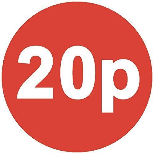 Audioprint Lot. 1000Lot de 20broches Prix Autocollants 30mm rouge