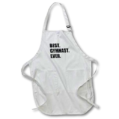 Best Gymnast Ever - fun gift for talented gymnastics athletes - text - Medium Length Apron with Pouch Pockets