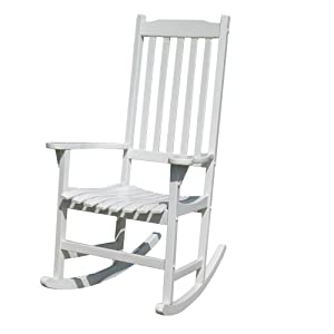 Merry Garden White Paint Traditional Rocking Chair