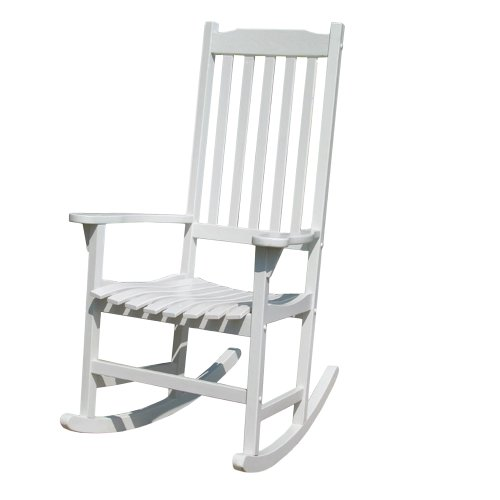 Merry Garden White Paint Traditional Rocking Chair front-97744
