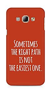 AMEZ the right path is not easy Back Cover For Samsung Galaxy A8