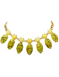 BID4DESIRE LOVELY NEON GREEN MARQUISE SHAPE NECKLACE FOR GIRLS