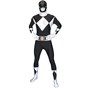 Morphsuits Men's Power Rangers Morphsuit, Black, Large