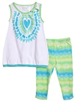 Baby Togs Little Girls 2 Piece Tie Dye Tank Top Bright Summer Leggings Set