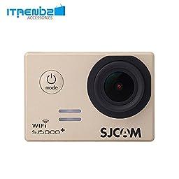 Video Camcorder, Itrendz Champagne Sj5000 Plus Wifi Sports Action Camera Sjcam Sj5000+ Water Resistant Helmet Head Video Camcorder