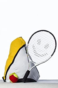Buy 17 and 19 Inch Junior Tennis Racquet racket with a Ball and a Carry Bag backpack.17 inch racket for Ages 0 to 5 or 30 to... by Street Tennis Club