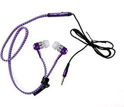 Paracops Zipper Purple Dynamic Headphone Wired Headphones