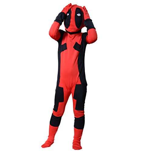 Kids Deadpool Costume Boy Halloween Bodysuit Jumpsuits