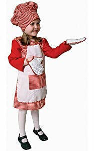 Red Gingham Girl Chef Costume - Toddler T2