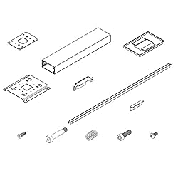 ClearOne 910-001-005-12 White 12 inch Spanner Ceiling Mounting Kit for Beamforming Microphone Array