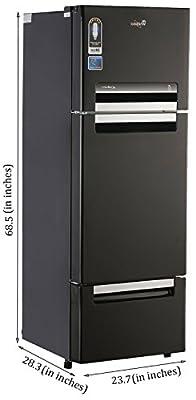 Whirlpool Fp 283D Royal Multi-door Refrigerator (260 Ltrs, Mirror Black)