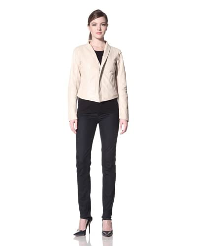 Laundry by Shelli Segal Women's Cropped Leather Jacket  - Buff