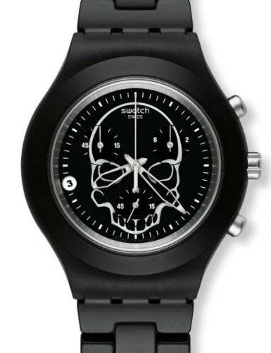 Swatch Men's SVCF4001AG Black Aluminum Quartz Watch with Black Dial