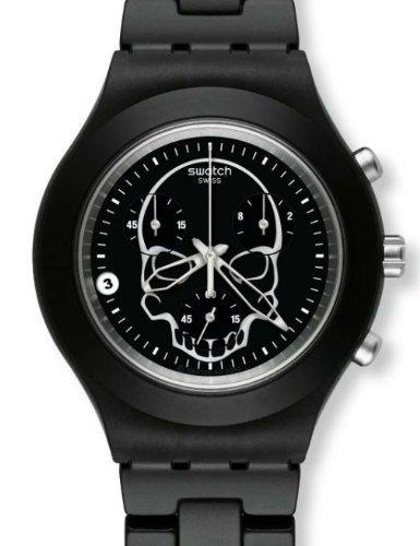 Swatch Men's SVCF4001AG Black Aluminum Quartz Watch with Black Dial