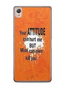 YuBingo My Attitude can Kill You Mobile Case Back Cover for Sony Xperia Z3