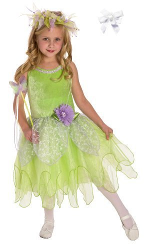 Tinkerbelle Deluxe Fairy Dress with Hair Bow