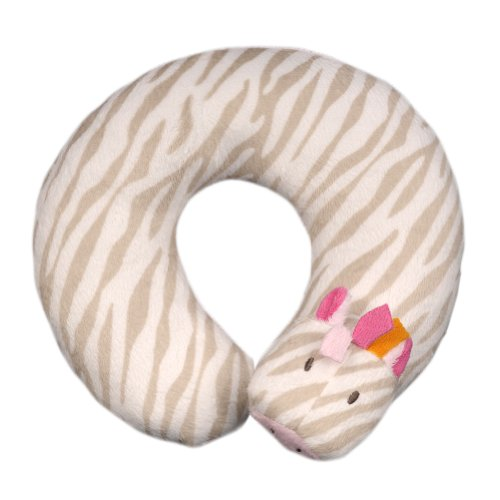 Blankets and Beyond Zebra Print Baby Travel Pillow Pink - 1