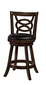 "Coaster 24"" Swivel Bar Stool (Set of 2)-Cappuccino"