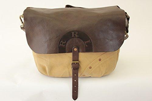 (ダブルアールエル) RRLヴィンテージ加工 イタリアンレザー ショルダーバッグ leather mail bag 並行輸入品